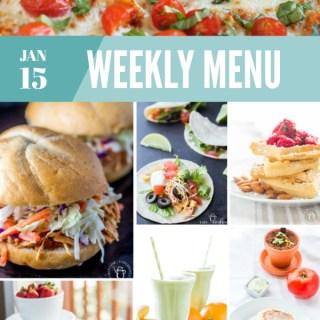 Weekly Menu for the Week of Jan 15th