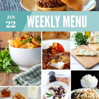 Weekly Menu for the Week of Jan 22nd