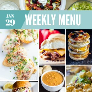 Weekly Menu for the Week of Jan 29th