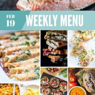 Weekly Menu for the Week of Feb 19th