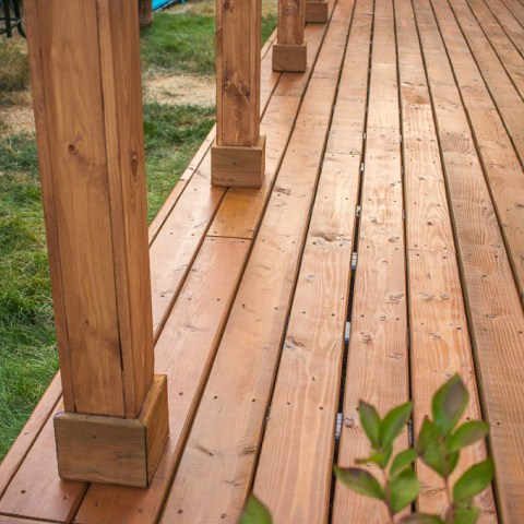DIY Wood Deck over Concrete Slab