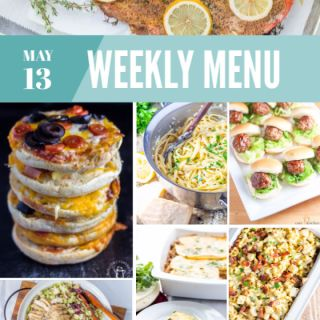 Weekly Menu plan for the week of May 13