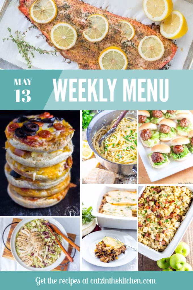 Weekly Menu plan for the week of May 13