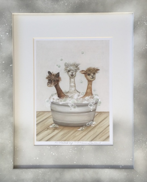Bathtub Alpacas Bath Art Wash Tub Catzooart