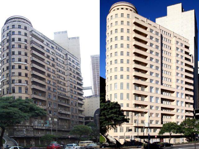 Edifício Riachuelo: prédio de escritórios foi requalificado e reformado para moradia de 120 famílias