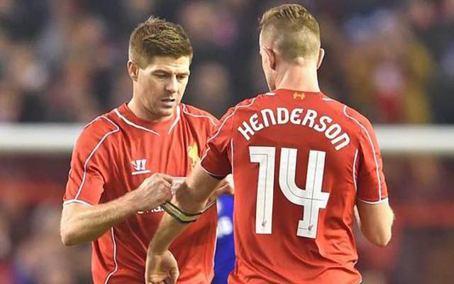 Jordan Henderson Captain Steven Gerrard Liverpool