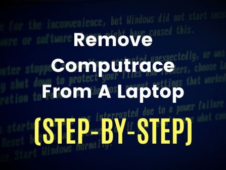 Remove Computrace from a Laptop