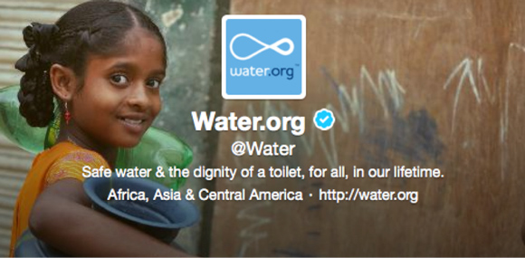 Water.org Twitter Header