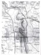 Cartina con il percorso della Ferrovia delle Barche