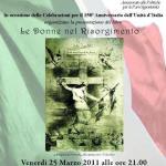 Presentazione del Libro Le Donne nel Risorgimento