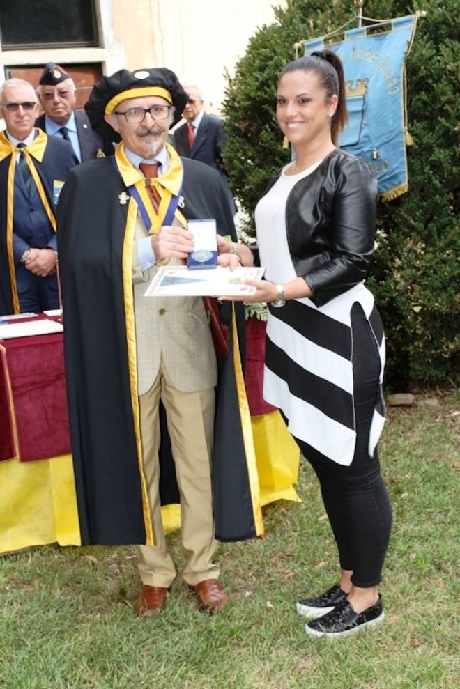 Bertoni e De Novara consegna medaglia