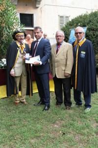 Bertoni, Rossetti, Milani e Macchi consegna medaglia