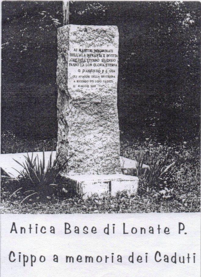Cippo Aviatori caduti - posizione originale