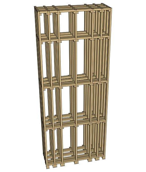 CaveauStar Weinregal CS-Basic-04 - 3D-Ansicht