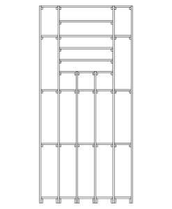 CaveauStar Weinregal CS-Basic-09 - Technische Skizze