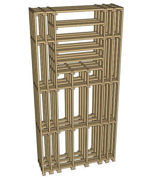 CaveauStar Weinregal CS-Basic-10 - 3D-Ansicht