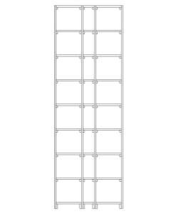 CaveauStar Weinregal CS-Basic-28 - Technische Skizze