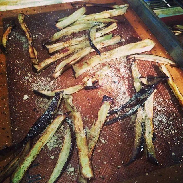 Garlic Roasted Eggplant Fries