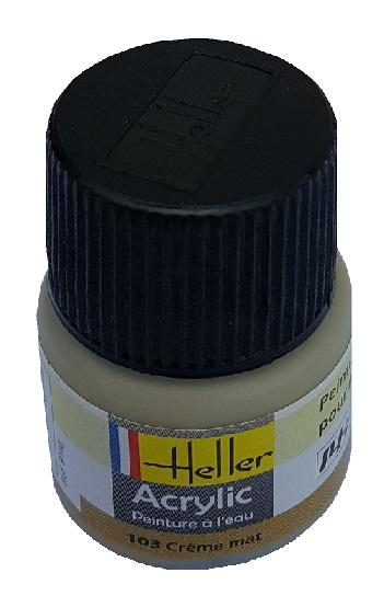 Heller N 103 Creme Mat Peinture Maquette Acrylique