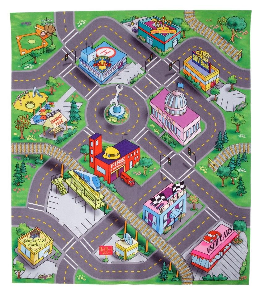 Majorette Tapis De Voitures Miniatures Ville Down Town
