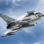 IMAGEM: Caça Eurofighter Typhoon da Royal Air Force