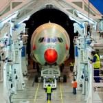 Airbus inicia montagem final do terceiro A350 XWB