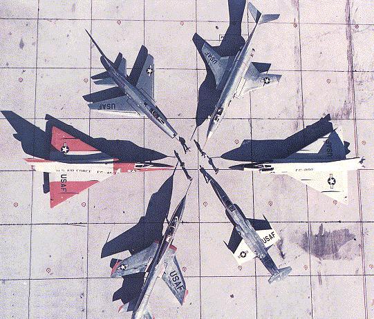 A Série Century. (Foto: USAF)