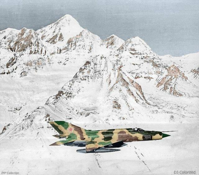 MiG-21 sobre o Afeganistão. A URSS não enfrentou oposição aérea.