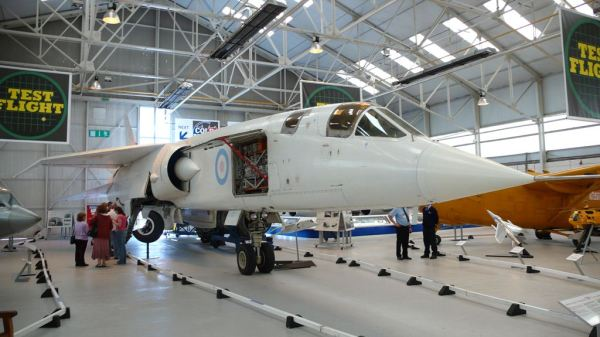 O BAC TSR.2 preservado no Museu da RAF de Cosford. (Foto: Taras Young)