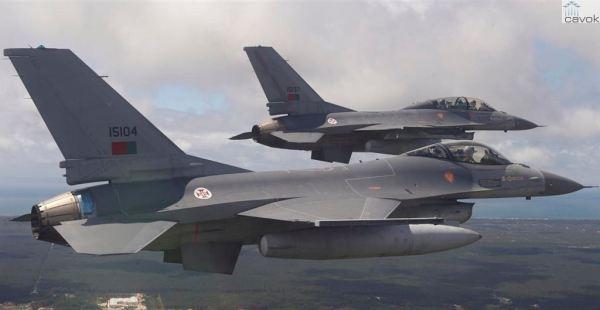 Caças F-16 da Força Aérea Portuguesa. (Foto: FAP)