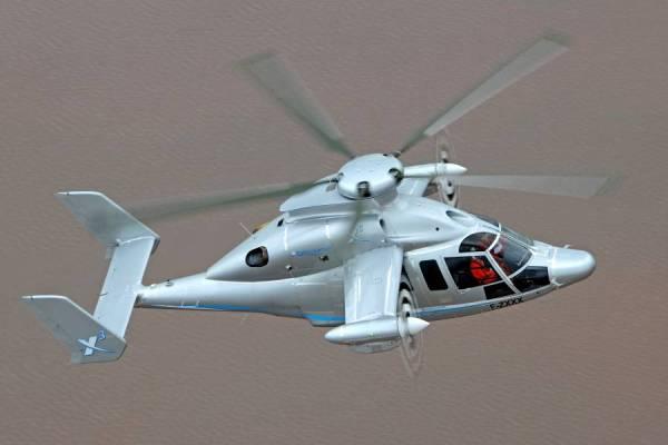 O X3 da Eurocopter em voo. (Foto: Eurocopter)