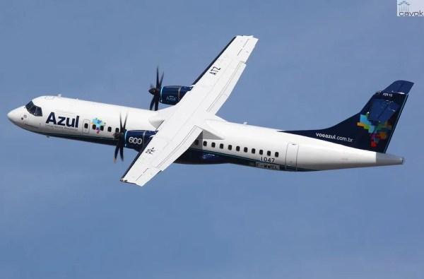 UMa aeronave ATR72-600 da companhia aérea Azul Linhas Aéreas.