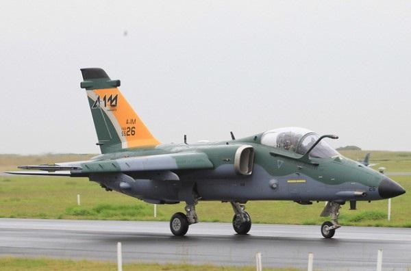 O primeiro A-1M da FAB. O AMX finalmente como deveria ser. (Imagem: Agência força aérea)
