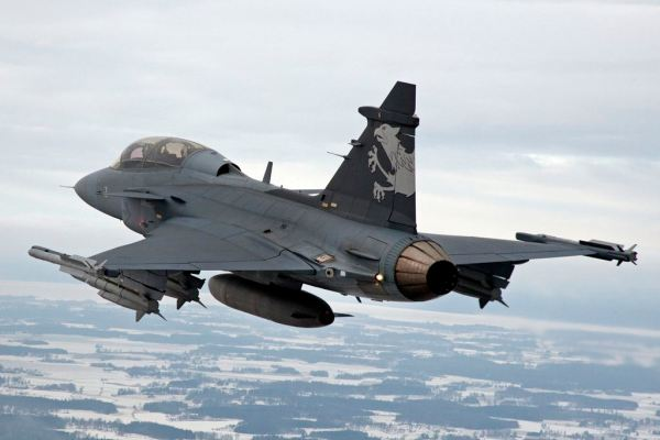 Caça Gripen NG, o escolhido da FAB. (Foto: Stefan Kalm / Saab)