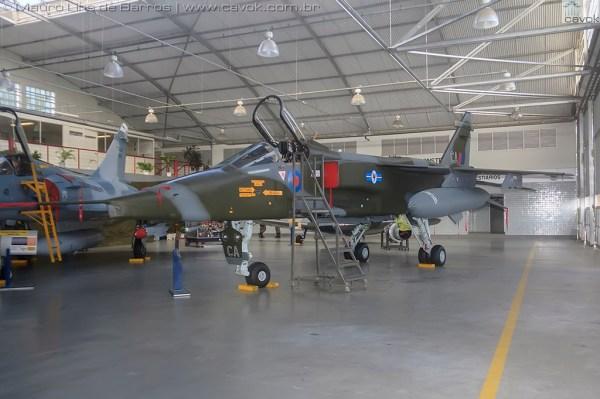 O SEPECAT Jaguar GR.1, que pertencia ao N° 20 Sqn da RAF. (Foto: Mauro Lins de Barros / Cavok)