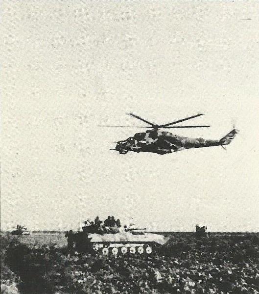 O helicóptero mais potente da Guerra do Golfo Pérsico foi o Mil Mi-24. O Iraque tinha cerca de quarenta. Seu poderio de fogo era enorme, mas ele era vulnerável, devido a seu enorme tamanho.