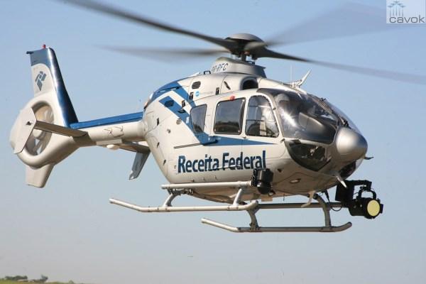 EC135 T2+ da Helibras vai auxiliar nas atividades de busca e repressão de contrabando. (Foto: Helibras)