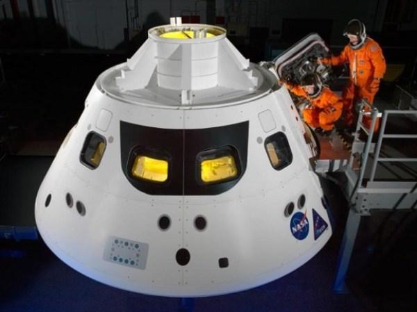 Como deverá ser a Orion quando estiver finalizada.