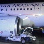 Avião se choca com carro em pista de aeroporto na Arábia Saudita