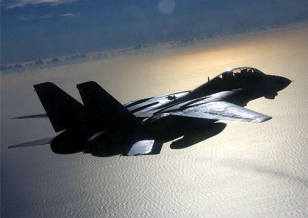 F-14 do VF-103, um dos esquadrões que participaram da ação.