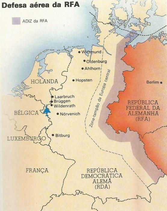 Ao lado do distrito industrial da Renânia-Vestfália e bem perto da fronteira da RFA com a Holanda, fica Wildenrath, ficava a sede de uma esquadrilha de aviões Phantom da Força Aérea Britânica (RAF).