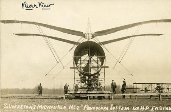 Milwaukees Flying Machine by Wisconsin Historical Images