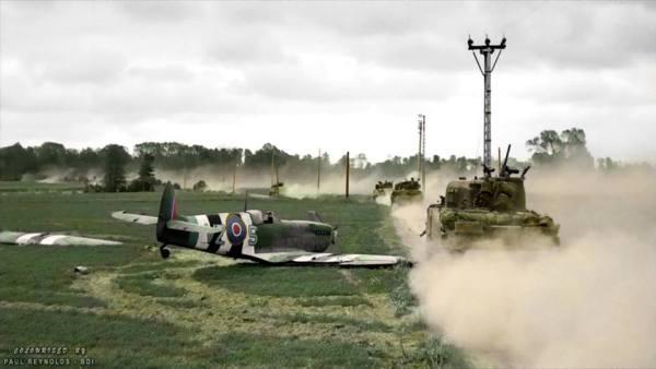 Spitfire vs tanque
