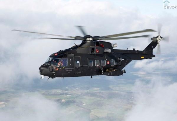 O novo helicóptero de busca e salvamento da Força Aérea Italiana, AgustaWestland HH-101 Caesar. (Foto: AgustaWestland)