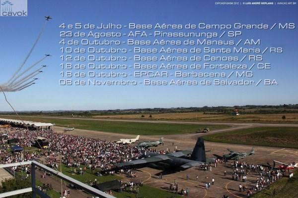 Datas dos portões abertos da FAB em 2015. (Foto: Luis André Werlang Cavok)