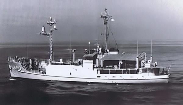 USS Pueblo, em outubro de 1967, no litoral de San Diego (EUA) - US Navy