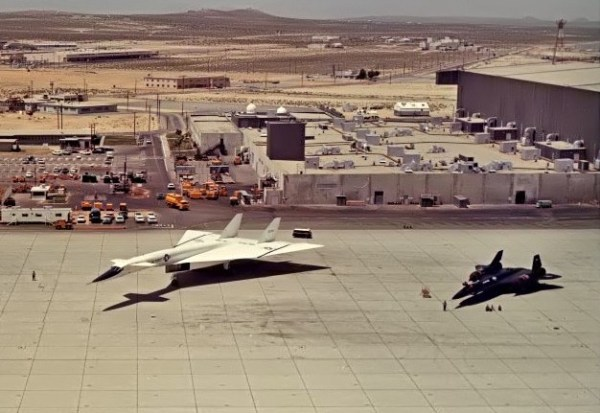 A/C display at Edwards AFB. 5/1/65 Marty Isham Collection