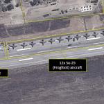 IMAGENS: Aeronaves russas enfileiradas em Latakia, na Síria