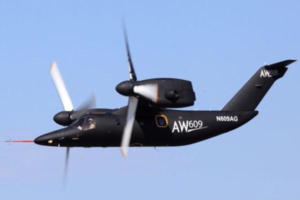 Tilt-rotor AW609, registro N609AG - AgustaWestland