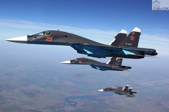 Sukhoi Su-34 - VKS, by Dmitrii Barashev
